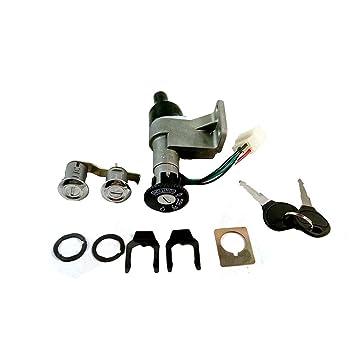 Motorcycle E-bike Scooter Ignition Switch Power Battery Leading Lock Set 2 Key