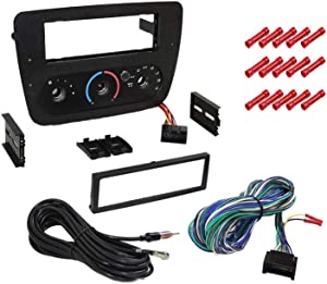 CACHÉ KIT367 Bundle with Car Stereo Installation Kit for 2000 – 2007 Ford Taurus with Rotary Climate Controls – in Dash Mounting Kit for Single Din Radio Receiver (2 Item)