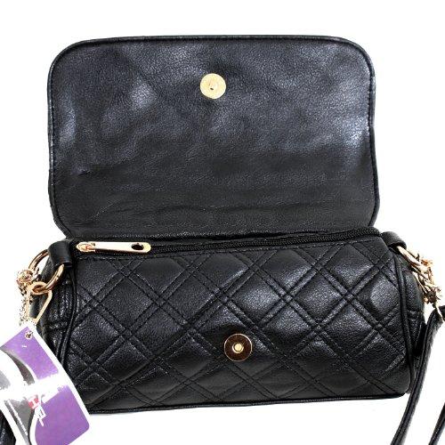 Mahel Small Fashion Leather Bag Damen Henkeltasche / Umhängetasche MH 7801-10 Schwarz lHGCA4y