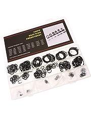 300 Pcs External Metric Circlip Snap Retaining Clip Ring Assortment Kit 18 Sizes Black Hardware