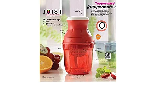 Amazon.com: New Tupperware Juist limited edition Juice Maker Red Juicer Twister Strainer ;TM79F-32M UGBA555441: Kitchen & Dining