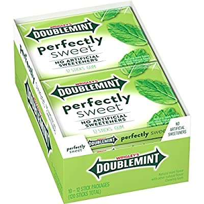 Wrigley's Doublemint Perfectly Sweet Gum, 12 Piece (10 Packs)