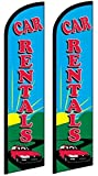 2 Windless, Swooper, Flutter, Feather, Banner Flags CAR RENTALS Review