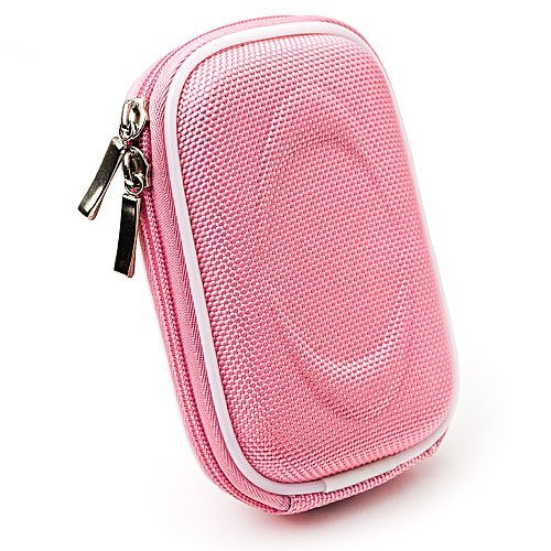 VanGoddy Slim Camera Case for Canon ELPH 130 / IXUS 140 Point & Shoot Digital Camera + Screen Protector + Mini Tripod Stand (Nylon Pink)