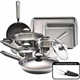 Farberware Complements Stainless Steel and Nonstick 13-Piece Cookware Set (Includes cookware, bakeware and 2 knives, Nonstick interiors)