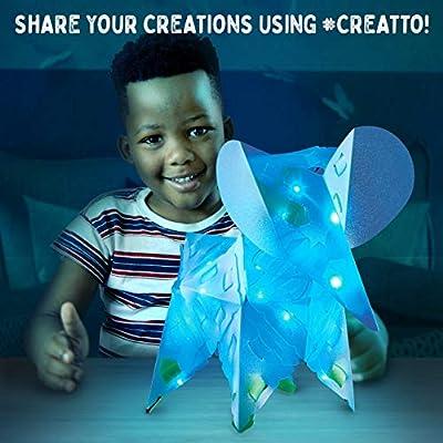 Thames & Kosmos Creatto Moonlight Elephant Safari | Light-Up Crafting Kit from Make Your Own Illuminated 3D Crafts, Décor & Lamp | Elephant, Fox, Kangaroo & Lantern | DIY Activity Kit & LED Lights: Toys & Games