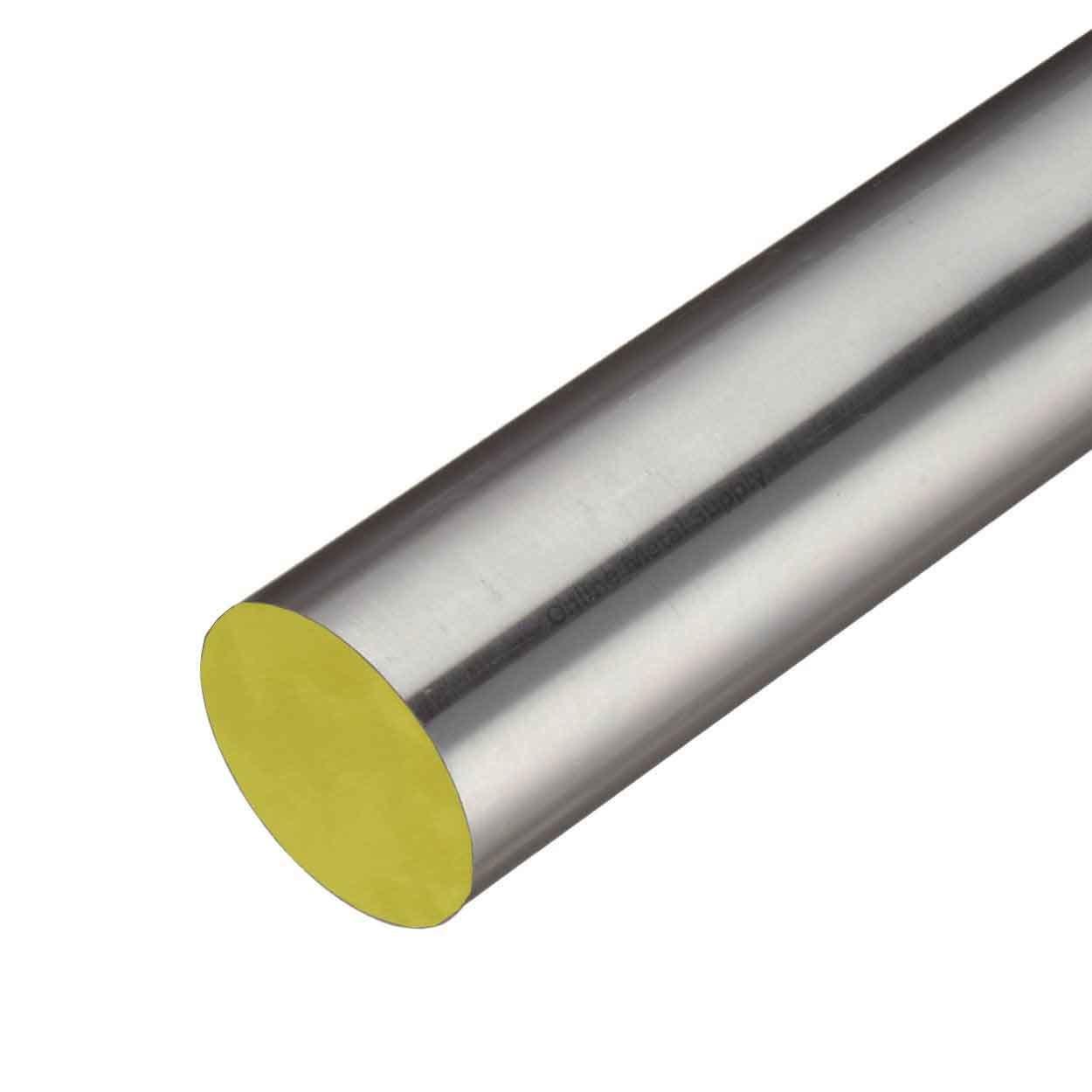 Online Metal Supply 316 Stainless Steel Round Rod, 2.500 (2-1/2 inch) x 6 inches by Online Metal Supply