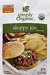 Simply Organic, Sloppy Joe, Seasoning Mix, CERTIFIED ORGANIC