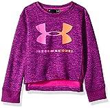Under Armour Girls' Little Long Sleeve Graphic Tee, Purple Plush Big Logo Crew Neck, 6
