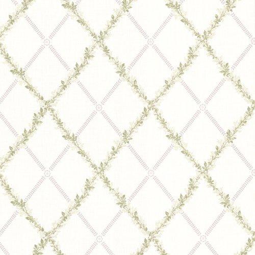 BHF 302-66882 Heirloom Mauve Harlequin Trellis Wallpaper by BHF (Heirloom Trellis)