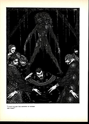 (Two Headed Monster Fear Dread Abomination 1933 beautiful vintage art print)