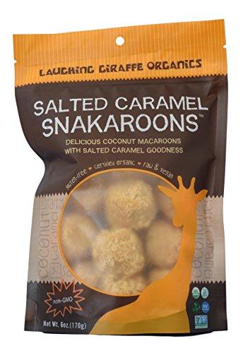 Laughing Giraffe Organics - Coconut Snakaroons - 6 Ounce Bag - Pack of 3 (Salted Caramel)