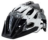 Kali Protectives Avita PC Geo Helmet, White/Gray, Medium/Large