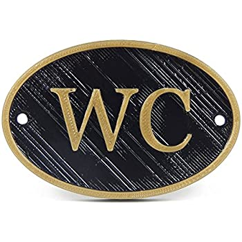 amazon com medallurgy french wc shabby chic toilet door sign