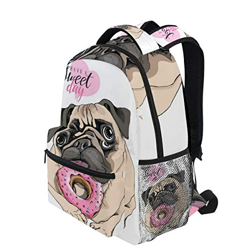 KVMV Adorable Beige Puppy Pug Pink Donut 16