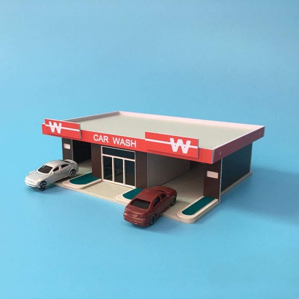 Ochoos Architecture モデルカーウォッシュショップモデルカーウォッシュアウトランドカラフルビルディングモデル1:150 Nスケールアウトランドシーン B07NSBRMG1
