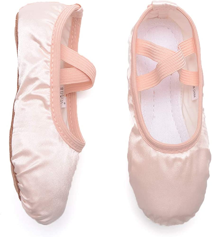 Canvas Ballet Shoes//Ballet Slippers//Dance Shoes Ruqiji Ballet Shoes for Girls//Toddlers//Kids//Women