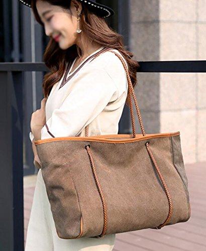 del hombro bolsas de medio bolsas de Protección para C D Hobo la lona tela Bolso las ambiente mujeres Sra de Bolso BqZ8gX