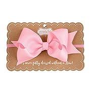 Mud Pie Grosgrain Bow Headband, Light Pink
