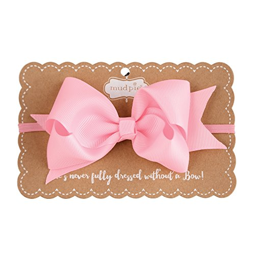 Baby Pink Bow - Mud Pie Grosgrain Bow Headband, Light Pink