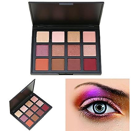 Cosmeticos Maquillaje Paleta de Sombras de Ojos, AMBITO 12 Colores Paletas de maquillaje Profesional Cosmético de Sombra de Ojos Paleta - #1