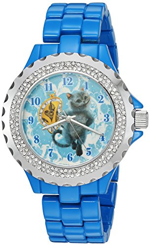 Disney Women's 'The Cheshire Cat' Quartz Metal and Alloy Watch, Color:Blue (Model: W003070)