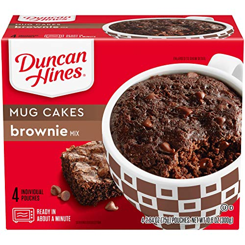 Duncan Hines Perfect Size for 1 Brownie Mix Ready in About a Minute Chocolate Brownie 4 Individual Pouches 264 Ounce Pack of 4