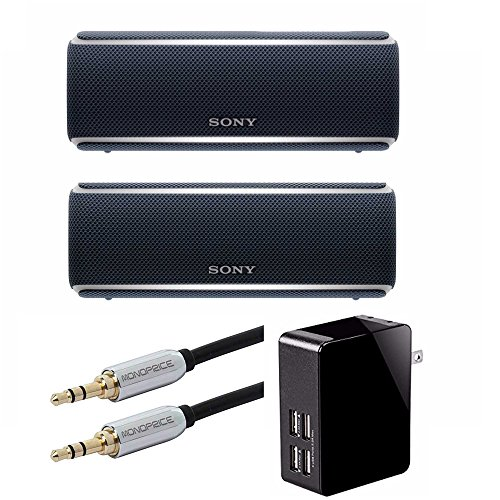 Sony SRS-XB21 Portable Wireless Bluetooth Speaker - 2 Speakers - Connect with Wireless Party Chain (Black)