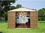 Shed Storage. Duramax Building Products Durable Vinyl Plastic Shed Storage with Door Handle