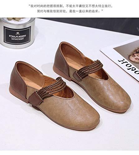Marron Chaussures coloré Taille Qiusa Marron 39 Eu 4Unaq1