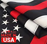 Thin Red Line Flag 3×5 Ft with Embroidered Stars, Sewn Stripes and Long Lasting Nylon, American Flag Black and White Honoring Firefighters and EMTs, US Flag Decor of Firefighter Flag