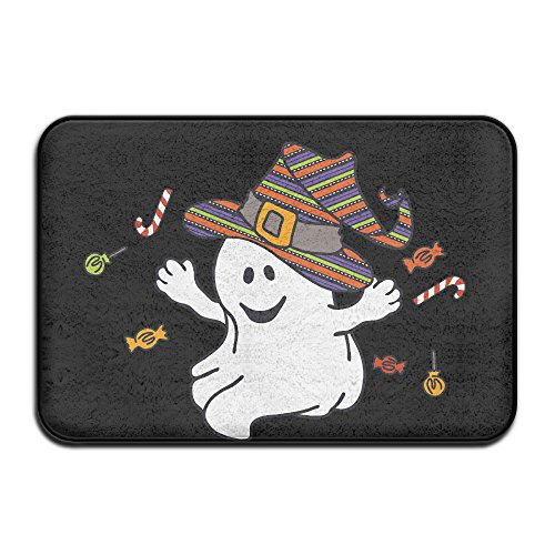 Personalized Halloween Ghost (Halloween Ghost Giving Candy Outdoor Indoor Doormat Personalized Durable Door Mats Non-Slip Floor Mats Rectangle)