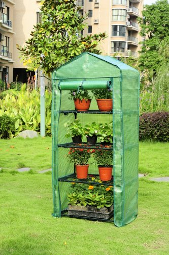 Portable Greenhouse For Patio : Tier portable greenhouse w shelves mini green house new