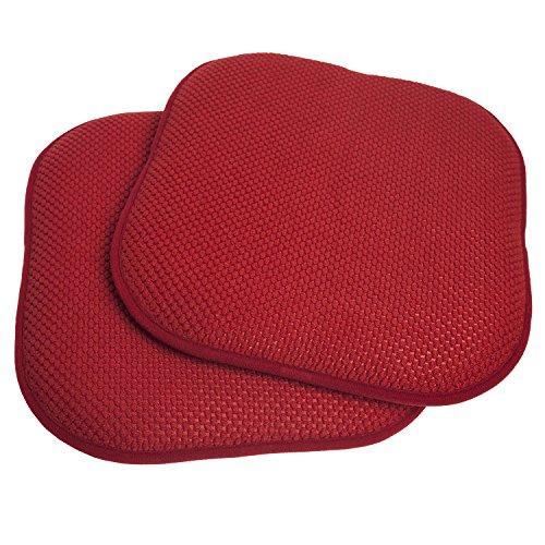 2 Pack Chair Pads (2 Pack Memory Foam Honeycomb Nonslip Back 16