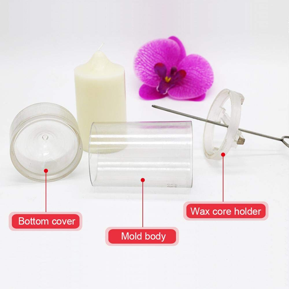 AOLVO Column Candle Mold 1.5//2.3//3//3.9//5.9 in Tall Pillar Candle Mold Crystal Clear Plastic Candle Mold Kit 1.5 in Diameter