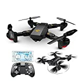 Qiyun Remote Control Aircraft XS809 Remote Control Mini Aircraft Toy Teenager 6-axis Wifi Folding Aerial Photography Intellectual Dronecolour:WIFI200W wide angle