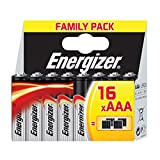Energizer 628125 Family Pack Classic Batterie Alcaline Ministilo AAA, 16 Pezzi