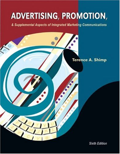 Advertising, Promotion and Supplemental Aspects of Integrated Marketing Communications -