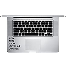 "Grey Yang Karev Stevens O'Malley Anatomy Doctors Vinyl Sticker Laptop Keyboard Inside Corner iPhone Cell Decal (3.5"" Wide)"