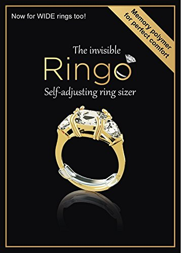 RINGO: Value Pack - 18 of The First Invisible Ring Sizer with Transparent Memory Polymer for The Perfect Fit on Your Finger Every Time