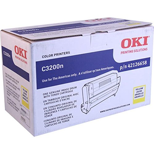 - Oki C3200 Series Yellow Image Drum Ships W/ 1000 Yield Toner