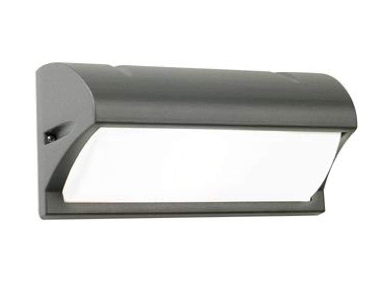 Applique con visiera in alluminio colore grigio um sovil