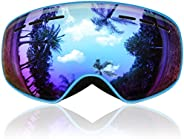 Kids Ski Goggles, Findway Snow Snowboard Goggles for Youth Junior Girls Boys