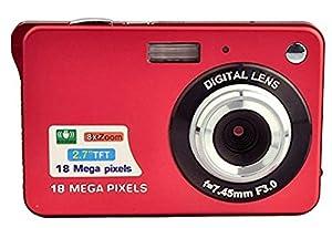 GordVE-Powerlead 2.7inch 18MP Mini Digital Camera 8X Digital Zoom Red Color
