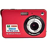 GordVE-Powerlead 2.7inch 18MP Mini Digital Camera 8x Digital Zoom Red Color