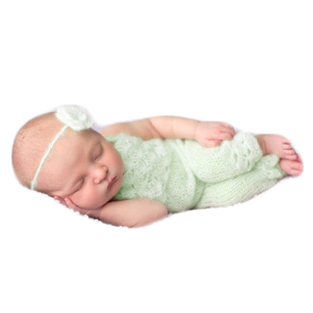 87a90a351bdc Top1: Baby Photography Props Boy Girl Photo Shoot Outfits Newborn Crochet Costume  Infant Knitted Clothes Mohair Headdress Rompers