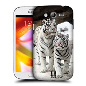 XiFu*MeiAIYAYA Samsung Case Designs Two White Tigers Famous Animals Protective Snap-on Hard Back Case Cover for Samsung Galaxy Grand I9082 I9080XiFu*Mei