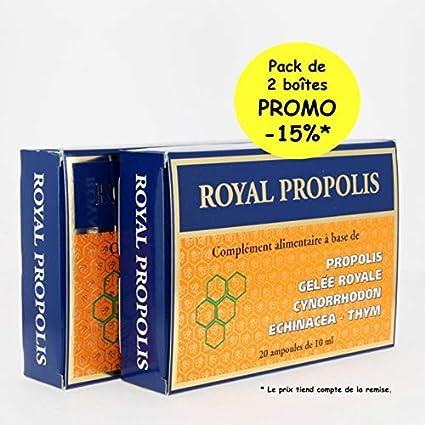 Royal propóleos X2 cajas de 20 bombillas de 10 ml – Exceptionnel estimulante de los Colmillos