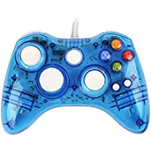 USB Wired Afterglow Blue Game Pad Controller Gamepad Joypad For Microsoft Xbox 360, xbox360, Windows 7, Windows 8