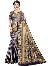 Neerav Exports Banarasi Kanjivaram Silk With Rich Pallu Traditional Jacquard Saree (Purple)
